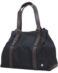 Token Crescent Waxed Tote Bag - Black