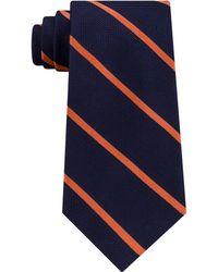Tommy Hilfiger - Men's Diagonally-striped Silk Tie - Lyst