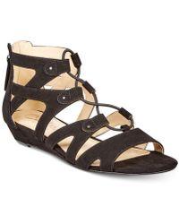 Callisto - Lexx Gladiator Wedge Sandals - Lyst