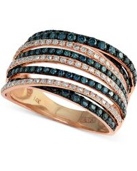 Effy Collection Effy® Diamond Crossover Ring (1 Ct. T.w.) In 14k Rose Gold - Metallic