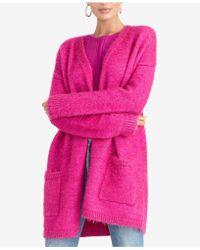 Rachel Roy Amara Fuzzy Cardigan (plus Size) - Pink