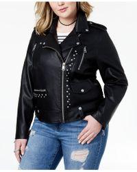 Levi's - ® Plus Size Studded Faux-leather Moto Jacket - Lyst