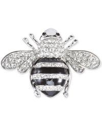 Nina - Silver-tone Pavé Honey Bee Pin - Lyst