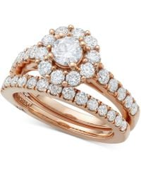 Marchesa Certified Diamond Bridal Set (2 Ct. T.w.) In 18k Gold, White Gold Or Rose Gold, Created For Macy's - Metallic