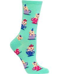 Hot Sox - Pigs In Teacups Socks - Lyst