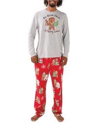 Munki Munki Chewbacca Holiday Family Pajama Set - Gray