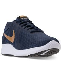 ddd5d67db40e2 Lyst - Nike Revolution 4 Running Sneakers From Finish Line in Blue