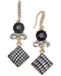 INC International Concepts - I.n.c. Gold-tone Stone & Tweed Drop Earrings, Created For Macy's - Lyst