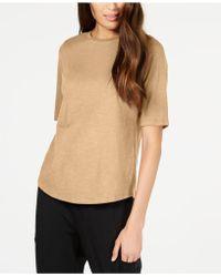 Eileen Fisher - Organic Cotton Top, Regular & Petite - Lyst