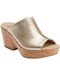 Earth Khaya Kiki Cork Wedge Sandal - Metallic