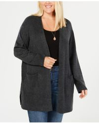 Style & Co. - Plus Size Open Cardigan, Created For Macy's - Lyst