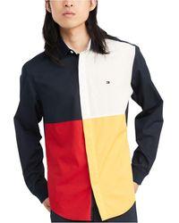 Tommy Hilfiger - Custom-fit Talon Pieced Shirt, Created For Macy's - Lyst