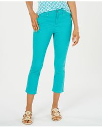 Charter Club Petite Tummy-control Bristol Capri Jeans, Created For Macy's - Blue