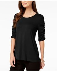 Alfani - Ruched-sleeve Top, Created For Macy's - Lyst