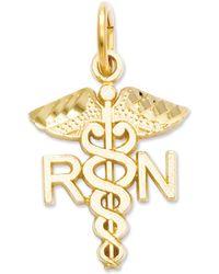 Macy's - 14k Gold Charm, Nurse Charm - Lyst
