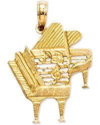 Macy's - 14k Gold Charm, Piano Charm - Lyst