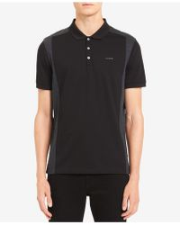 Calvin Klein - Liquid Touch Pieced Colorblocked Polo - Lyst
