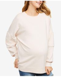 196915a3987 Jessica Simpson - Maternity French Terry Sweatshirt - Lyst