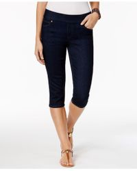 Style & Co. Petite Avery Pull-on Skimmer Jeans, Created For Macy's - Blue