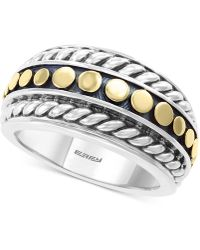 Effy - Effy® Two-tone Statement Ring In Sterling Silver & 18k Gold-plate - Lyst