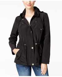 Charter Club Petite Water-resistant Hooded Anorak Jacket, Created For Macy's - Red