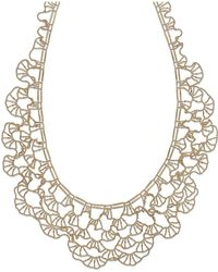 Macy's - Diamond-cut Bib Necklace In 14k Gold - Lyst