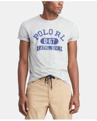 91690f86 Lyst - Polo Ralph Lauren Wimbledon Custom Fit T-shirt in Blue for Men
