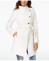 Guess - Asymmetrical Wrap Coat - Lyst
