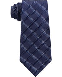 Kenneth Cole Reaction Adam Slim Check Tie - Blue