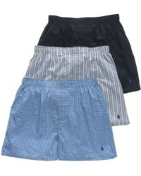 Polo Ralph Lauren 3-pk. Classic Woven Cotton Boxers - Blue