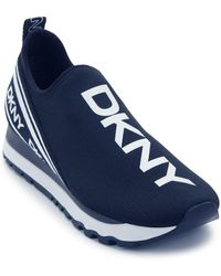 Dkny Marini Logo Tab Zip Back Slip On Shock Shoes Sneakers High-Top Size 7.5 New