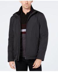 9c9ad1ff6 Calvin Klein Men's Lightweight Full-zip Stand-collar Jacket in Black ...