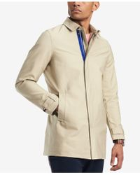 Tommy Hilfiger Wishart Core Khaki Trench Coat, Created For Macy's - Natural