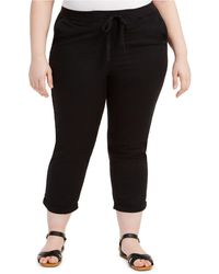 Style & Co. Plus Size Twill Tape Utility Pants, Created For Macy's - Black