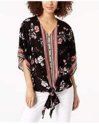 Style & Co. - Petite Tie-hem Top, Created For Macy's - Lyst