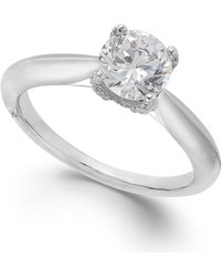 Marchesa Certified Diamond Solitaire Engagement Ring In 18k White Gold (1 Ct. T.w.)
