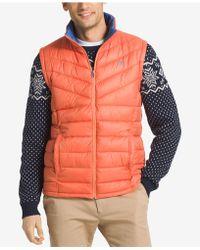 Izod   Men's Apex Quilted Full-zip Puffer Vest   Lyst