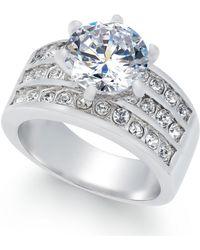 Charter Club - Silver-tone Crystal Triple-row Ring - Lyst