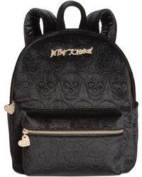 Betsey Johnson Small Skull Backpack - Black