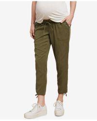 Jessica Simpson - Maternity Twill Drawstring Pants - Lyst