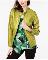 Alfani - Stitch Detail Stand Collar Jacket, Created For Macy's - Lyst