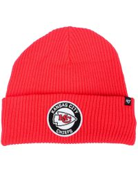 47 Brand - Kansas City Chiefs Ice Block Cuff Knit Hat - Lyst