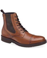 Johnston & Murphy Kinley Cap Toe Boots - Brown