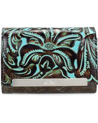 Patricia Nash - Turquoise Tooled Cametti Wallet - Lyst