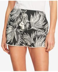 1.STATE - Printed Drawstring Shorts - Lyst