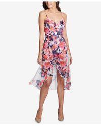 Kensie - Floral-print Ruffled Romper Dress - Lyst