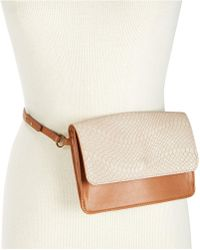 INC International Concepts - I.n.c. Smooth & Python-embossed Fanny Pack, Created For Macy's - Lyst