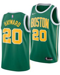 sports shoes 3790f 31661 Gordon Hayward Boston Celtics Earned Edition Swingman Jersey - Green
