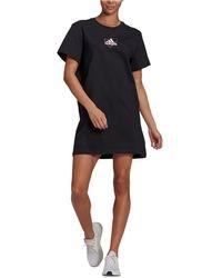 adidas Cotton Logo T-shirt Dress - Black