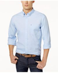 93e1e1c01 Tommy Hilfiger - Custom Fit New England Solid Oxford Shirt, Created For  Macy's - Lyst